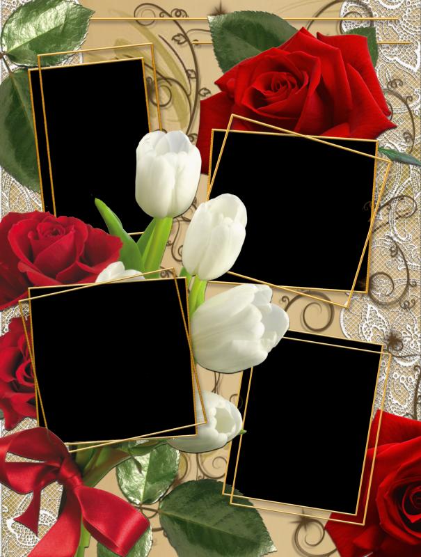 Geniales bordes para varias fotos marcos gratis para - Marco de fotos multiple ...