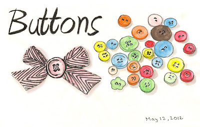 Buttons drawing by ©Ana Tirolese
