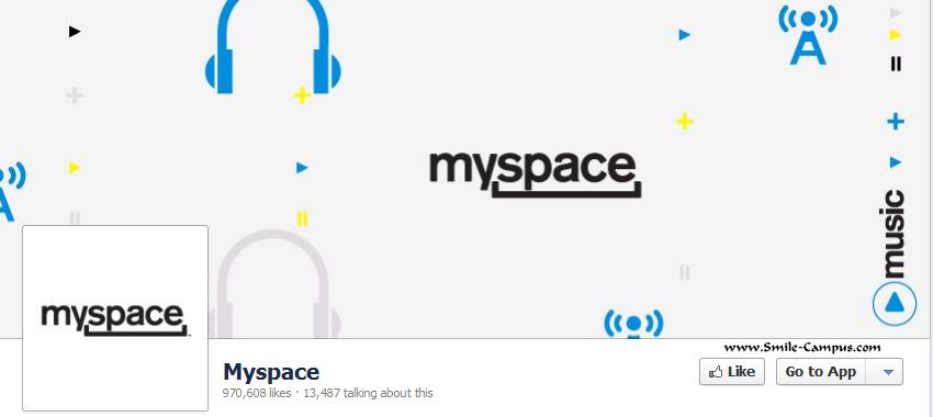 Myspace.com Facebook Timeline Page