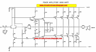build a 1000w power amplifier wiring diagram schematic circuit while this 1000 watt power amplifier minimal use transformer 20 ampere and the output of power amplifier dc voltage contains approximately 63 volts