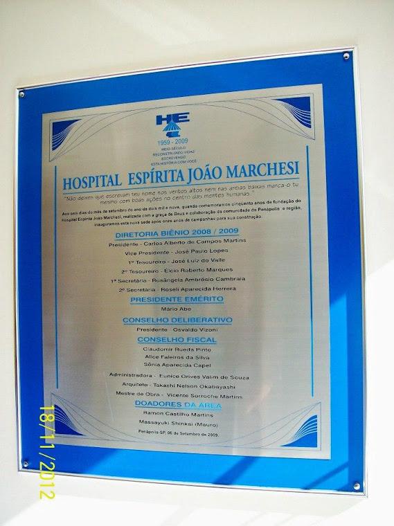 HOSPITAL ESPÍRITA JOÃO MARCHESI: 18/11/2012SI