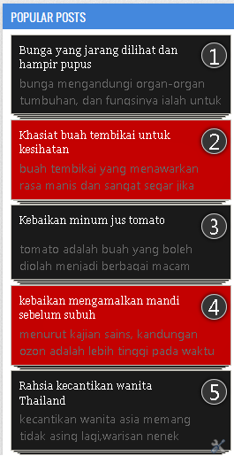 Widget popular post hitam dan merah