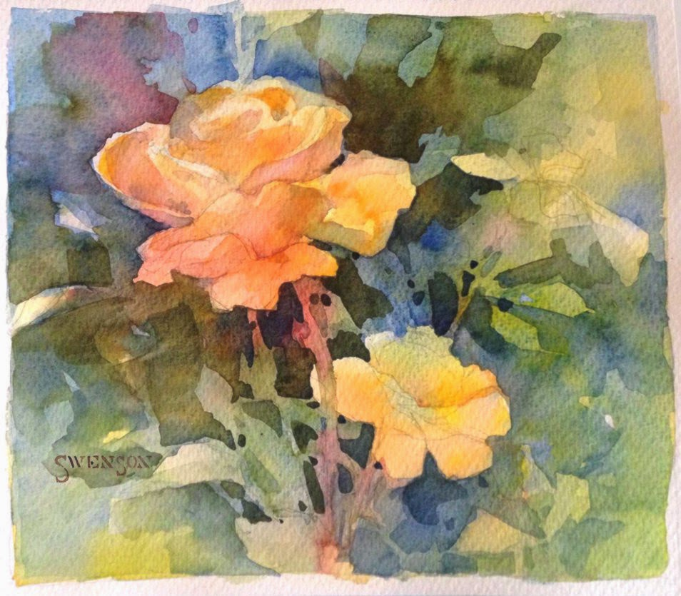 brenda swenson negative painting with watercolor