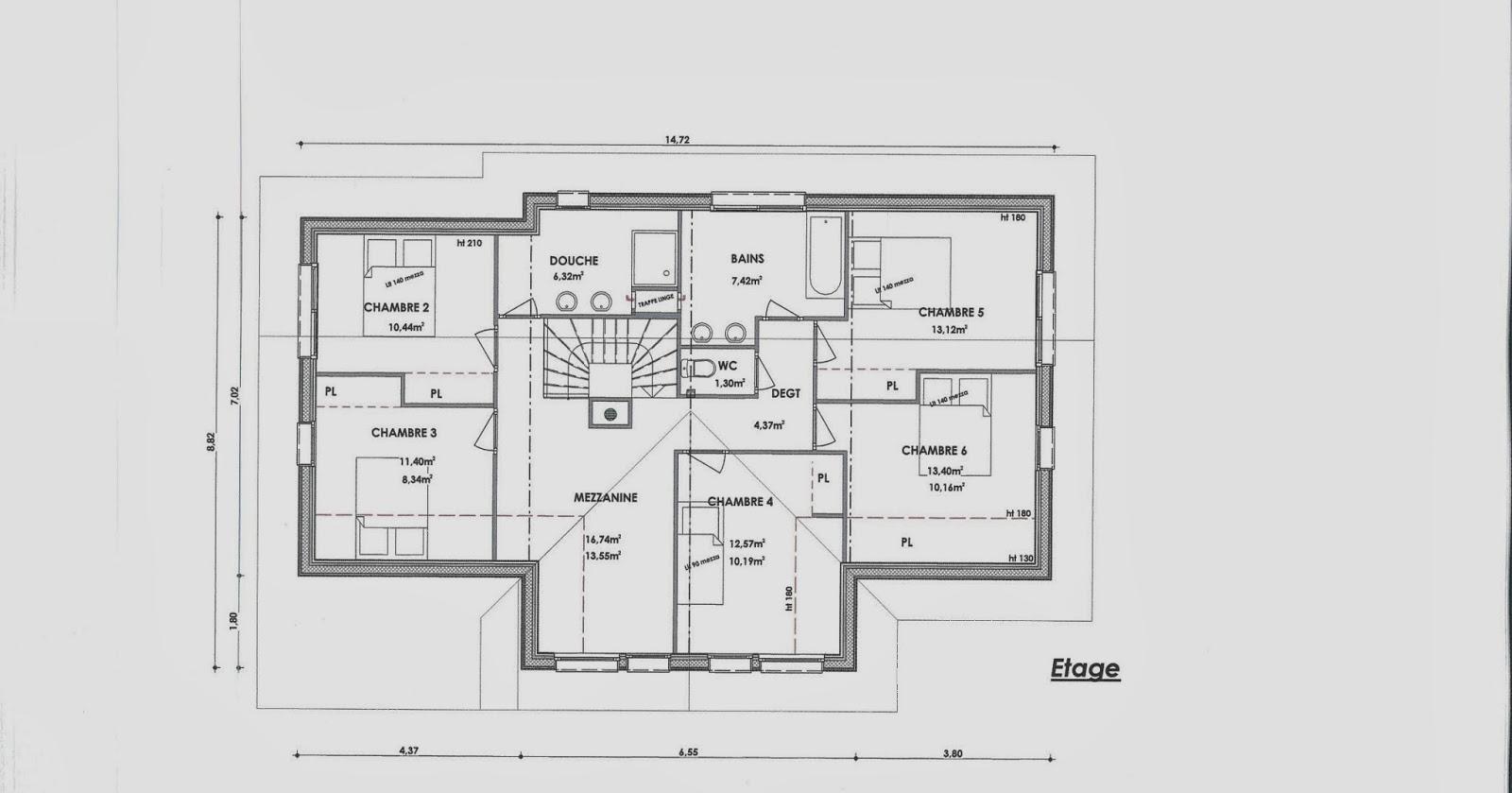 Plan maison avec mezzanine divinement plan petite maison construire une mais - Plan maison avec mezzanine ...