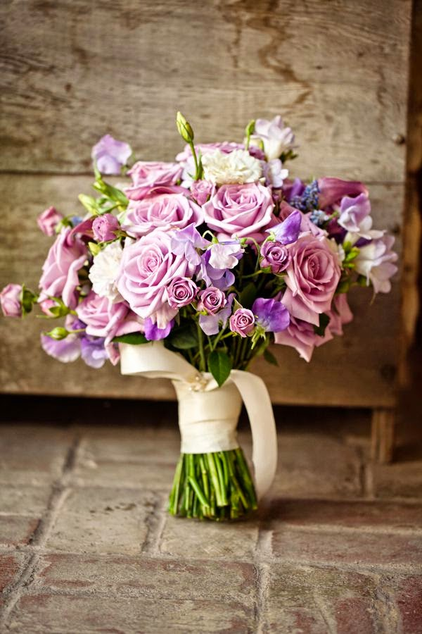 Lavender rose wedding bouquet