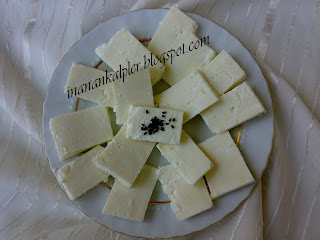 Peyniri evde yapmaya ne dersiniz? Hem tazecik hem de temiz bir peynir yemiş olacaksınız. Yapması da zor değil… Peyniri yaparken süzülen peynir suyunu da atmıyoruz… Hamur işlerinde kullanabiliriz… Biz pide ekmekte, gevrekte, lavaş yapımında kullanıyoruz…İleriki günlerde inşallah size lavaş ve pide ekmek tarifini de vereceğim…. 8 Kilo sütten yaklaşık 1 kilo peynir çıkıyor…