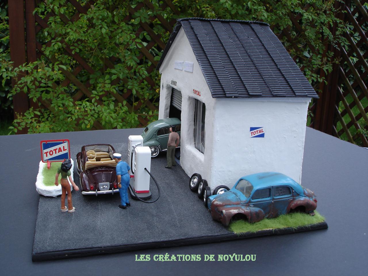 les creations de noyulou  diorama garage