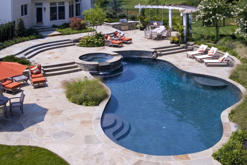 New home designs latest modern swimming pool designs ideas for Best backyard pool designs