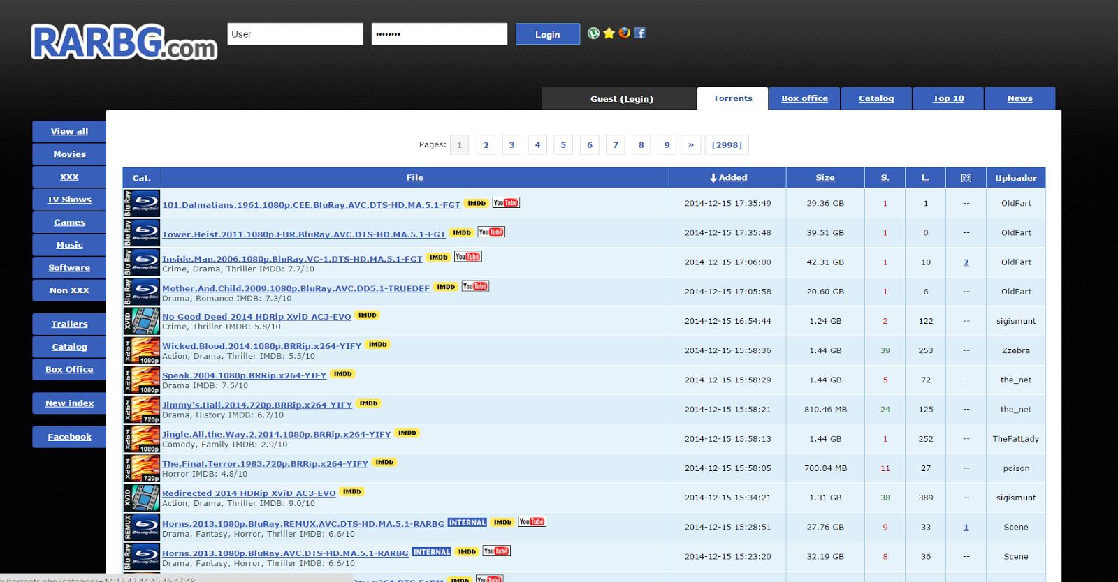 Bit torrent movie site
