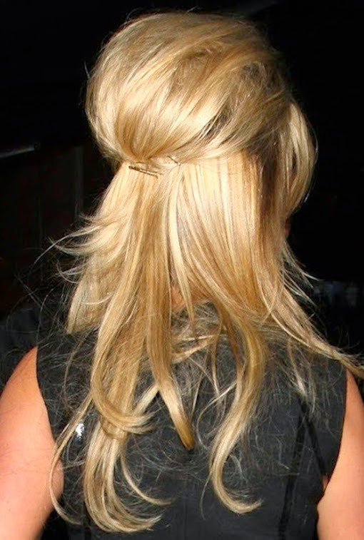 weekend hair: HOW TO DO THE BARDOT-ESQUE HALF UP / HALF DOWN 'DO