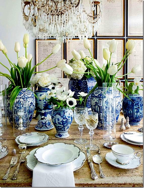 Chic Glamorous Table Setting Ideas : blueandwhitetablesetting from bellevivir.com size 571 x 744 jpeg 222kB
