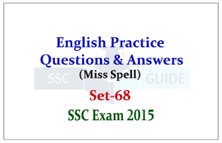 Practice English Questions (Miss Spell)