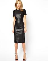 Black Leather Look Dress