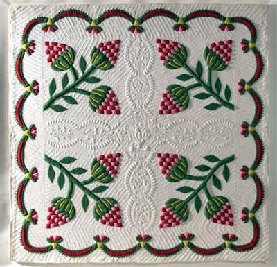 Strawberry Quilt Montrose, Susquehana County, Pennsylvania 1848