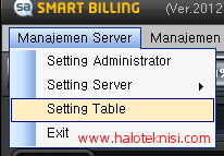 Setting Susunan PC Pada Smart Billing