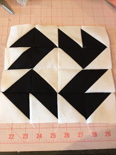 Modern Half-Square Triangle Quilt-a-Long Block 20