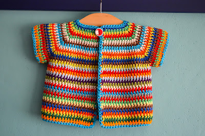 free crochet colorful baby vest pattern