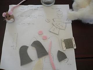 bahan tutorial flanel boneka tikus