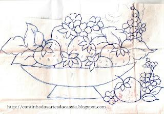 desenho de cesto com morangos