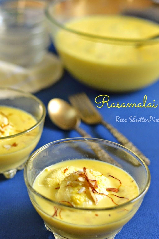 Rasamalai Sweet Recipe