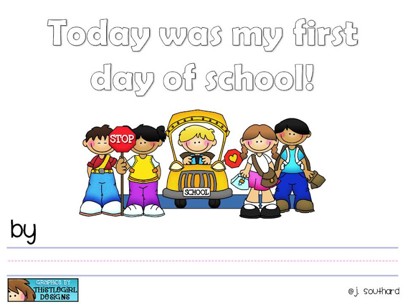 Update To First Day Of School Book Fun In First