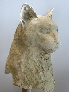 paper mache cat sculpture artist Shannon Reynolds