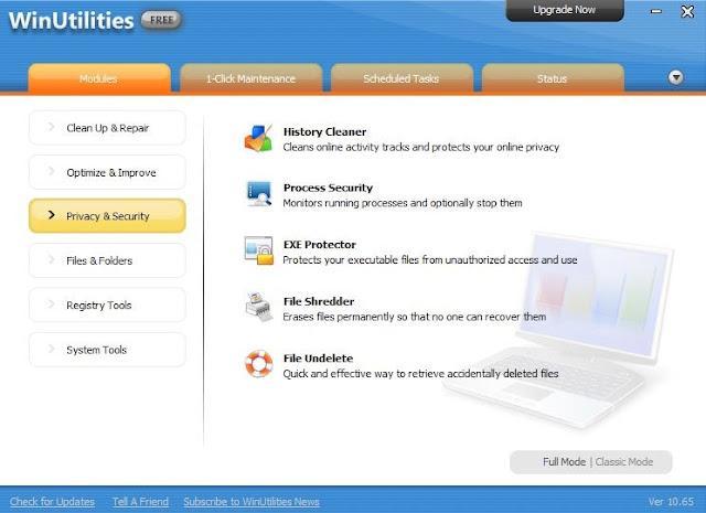 حزمة برمجية شاملة لتنظيف وإصلاح وصيانة وتحسين جهاز الكمبيوتر الخاص بك 10.65 WINUTILITIES FREE