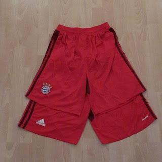 gambar detail celana bola musim depan liga jerman Celana bola Bayern Munchen home Official Adidas musim 2015/2016 di enkosa sport toko online baju bola terpercaya dan terlengkap