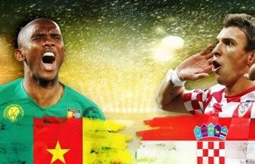 مشاهدة مباراة الكاميرون وكرواتيا اليوم 18-6-2014 بث مباشر على قناة الجزيرة الرياضية اونلاين