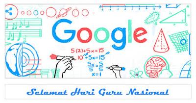 Google Doodle hari ini peringati hari guru nasional