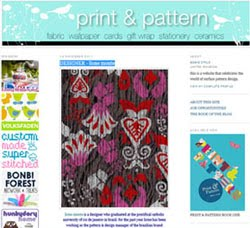 My work at Print & Pattern