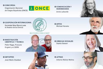 Galardonados con los Premios Príncipe de Asturias