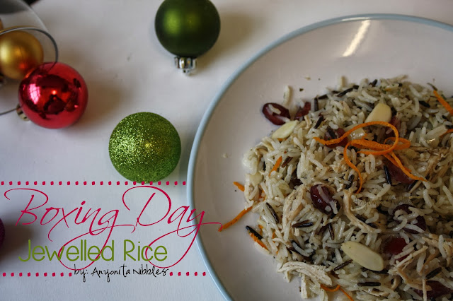 Boxing Day Jewelled Rice perfect for using leftover turkey from www.anyonita-nibbles.com