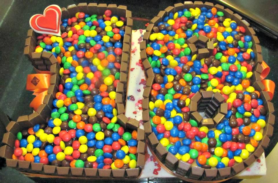 18 kit kat birthday cake