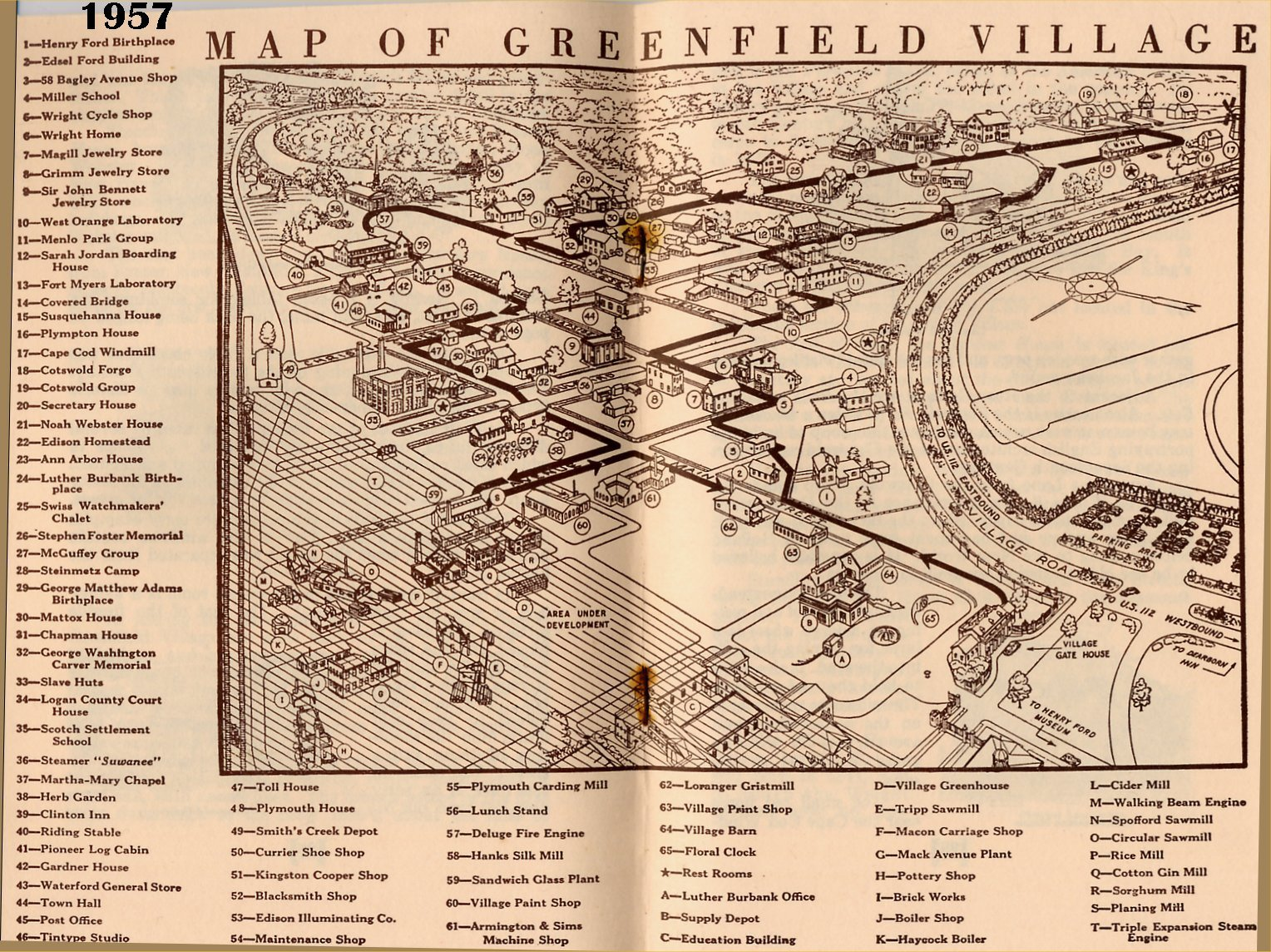 Greenfield Village OpenAir Museum Maps Through Time The