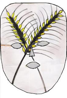 Máscara de trigo -símbolo da páscoa