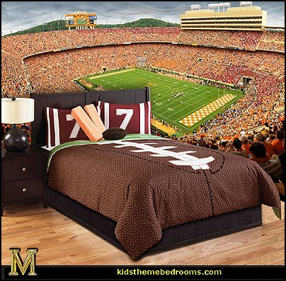 Fun Sports Theme Bedroom Decorating Ideas Football Wall Murals At