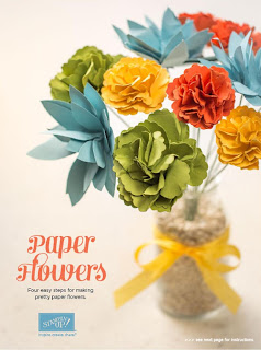 Tutorial on how to Make Paper Flowers - download it here