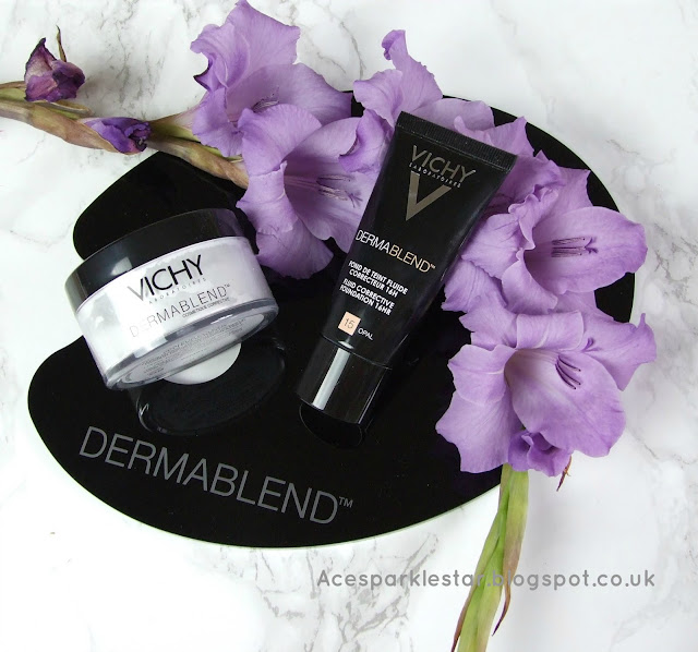 vichy dermablend foundation beauty blog review setting powder