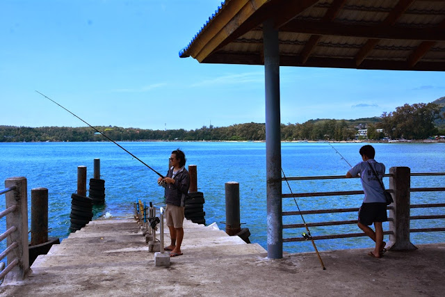 Rawai Beach Phuket pier fishing