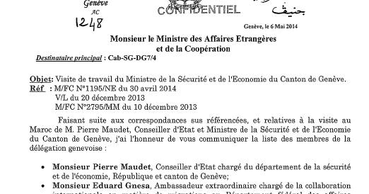 Diaspora saharaui les amis du maroc au canton de gen ve - Office cantonal de la population geneve ...