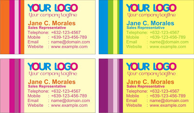 Colorful and Simple Business Cards Designs