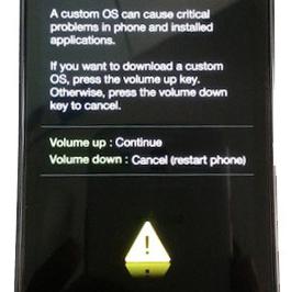 Samsung galaxy s advance boot recovery mode confirmation screenshot