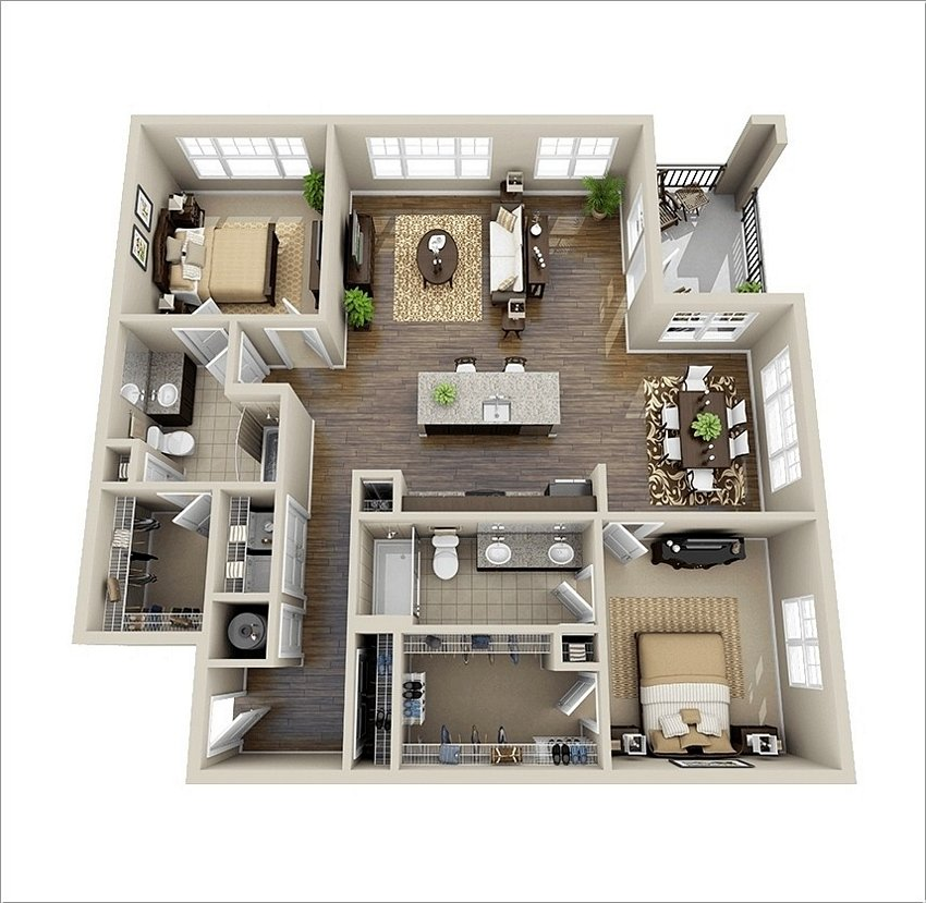 3D Floor Plan On Architectural 1