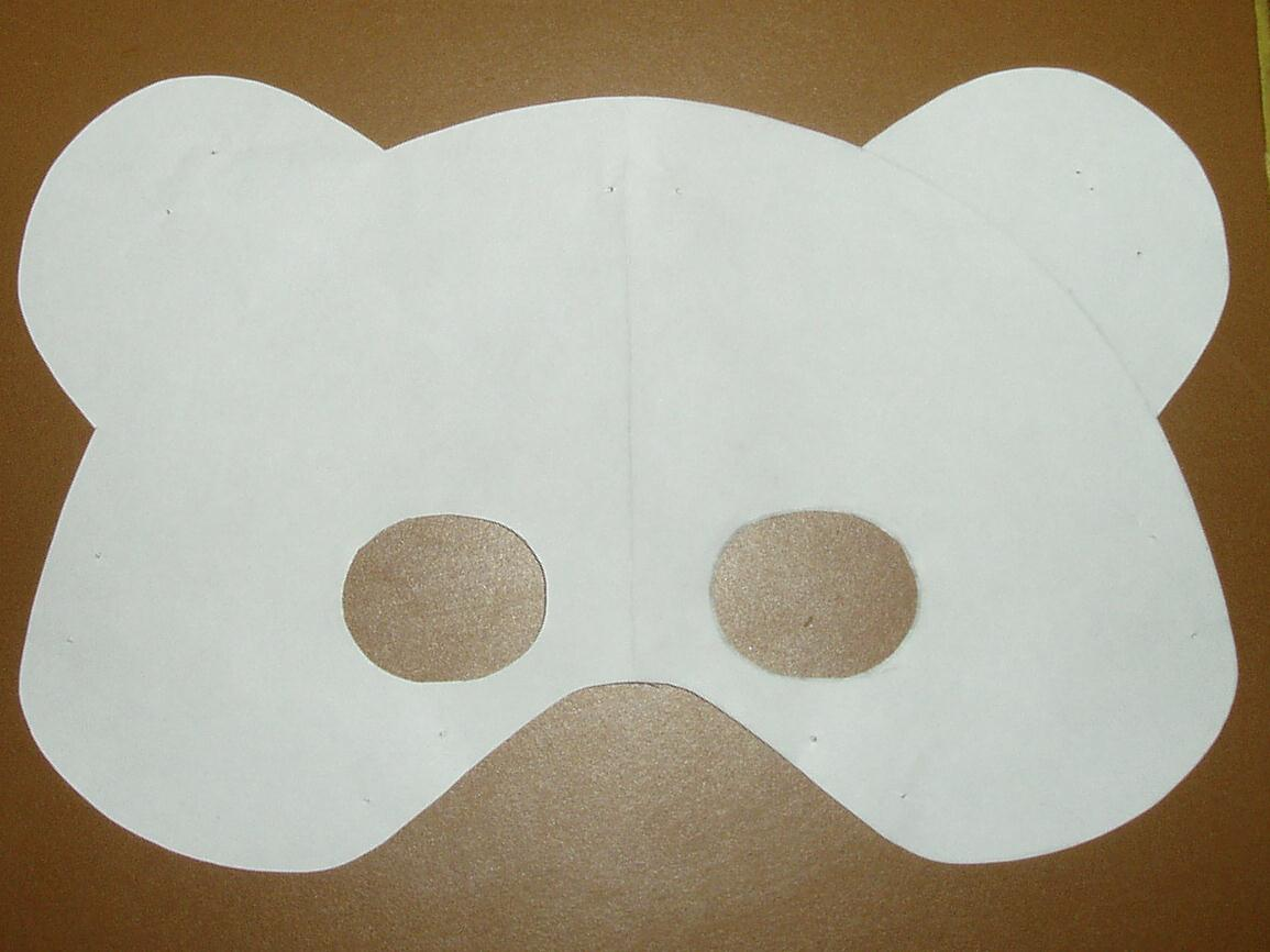 Uncategorized How To Make A Bear Mask early play templates teddy bear mask to print out template