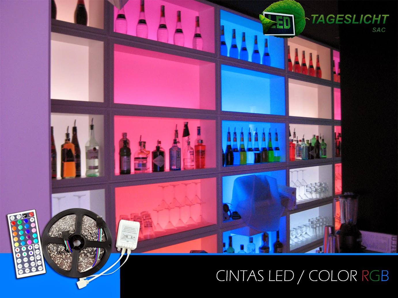 Tageslicht iluminaci n led cintas led rgb para for Decoracion iluminacion led