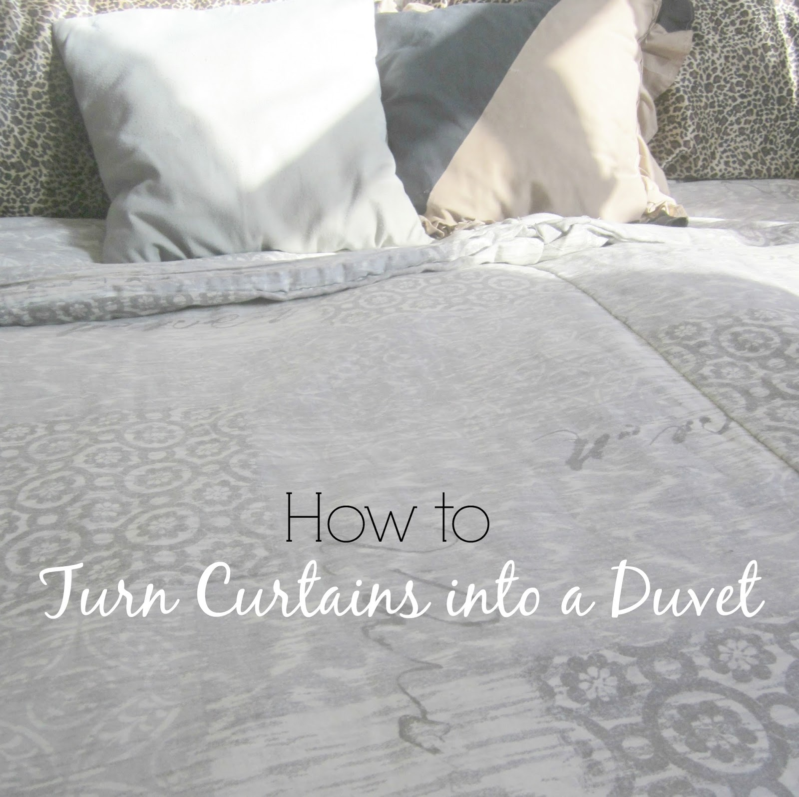 how to turn curtains into a duvet