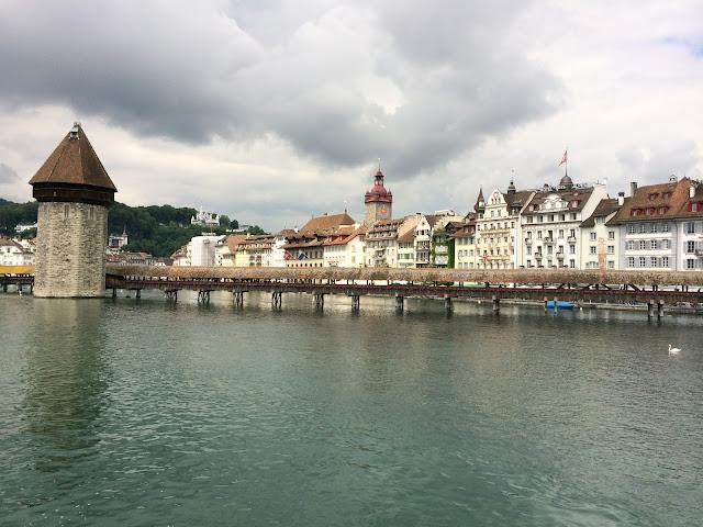 wisata, chapel bridge,Lucerne,switzerland,Eropa