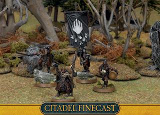 Figurki Władca Pierścieni LotR: SBG, Isengard Command, Uruk-Hai, Saruman