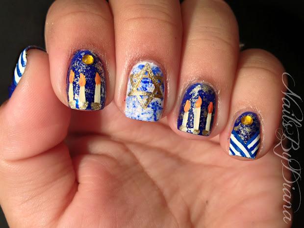 nailsbydiana hanukkah manicure